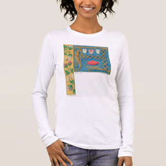 Ms 134 Illuminated letter `A' and side border of f Long Sleeve T-Shirt