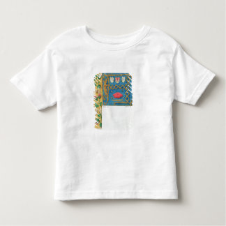 Ms 134 Illuminated letter `A' and side border of f Toddler T-Shirt