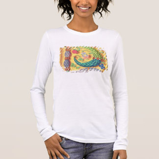 Ms 134 Illuminated letter `P' decorated with flowe Long Sleeve T-Shirt