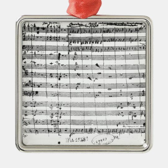 Ms.1548  Ouverture of the opera 'Don Giovanni' Silver-Colored Square Decoration