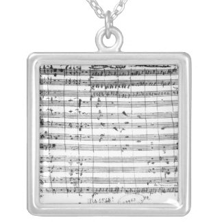 Ms.1548  Ouverture of the opera 'Don Giovanni' Silver Plated Necklace