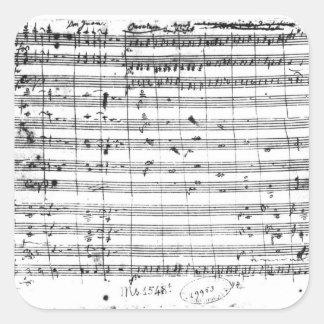 Ms 1548 Ouverture of the opera Don Giovanni Sticker