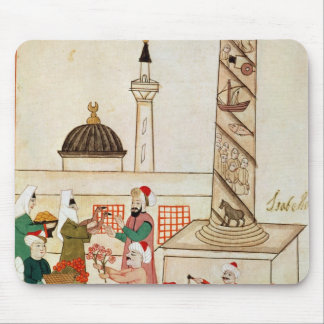 Ms 1671 A Bazaar in Istanbul, c.1580 Mouse Pad