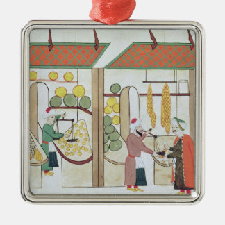 Ms.1671 Two Fruit Shops, c.1580 Christmas Ornament