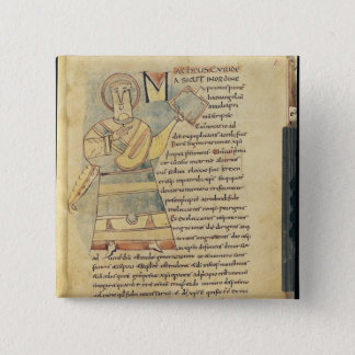 Ms 18 f.8 St. Matthew the Evangelist 15 Cm Square Badge
