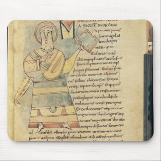 Ms 18 f.8 St. Matthew the Evangelist Mouse Pad