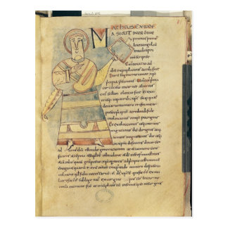 Ms 18 f.8 St. Matthew the Evangelist Postcard