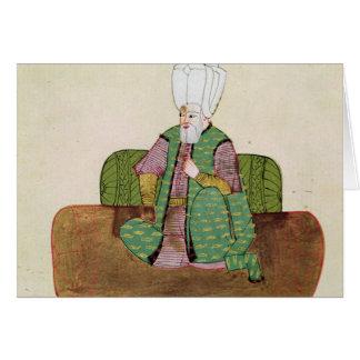 Ms 1971 Sultan Suleyman I Greeting Card