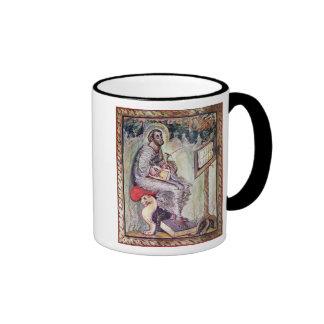 Ms 1 fol.90v St. Luke, from the Ebbo Gospels Ringer Mug