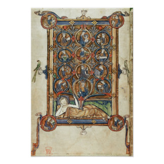 Ms 21926 The Tree of Jesse from a psalter Poster