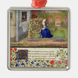 Ms 2617 Emilia in her garden, Plate 22, from 'La T Christmas Ornament