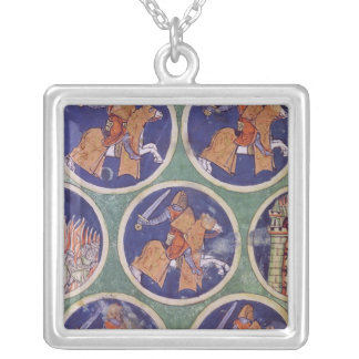Ms 3516 fol.217v Five Knights Silver Plated Necklace