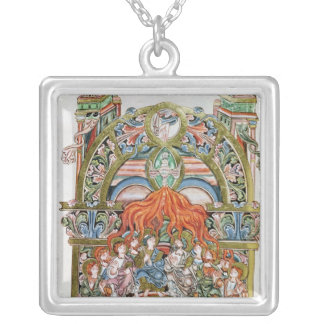 Ms 369  f.29v Pentecost Silver Plated Necklace