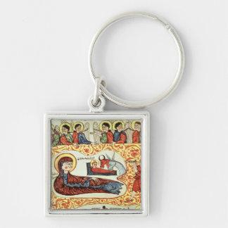Ms 404 fol.1v The Nativity, from a Gospel Key Ring