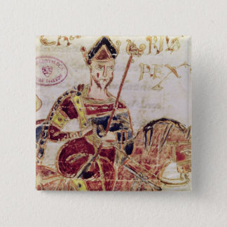 Ms 4 Lothair I  on his horse 15 Cm Square Badge