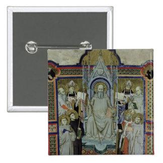 Ms 501 St. Benedict (vellum) 15 Cm Square Badge