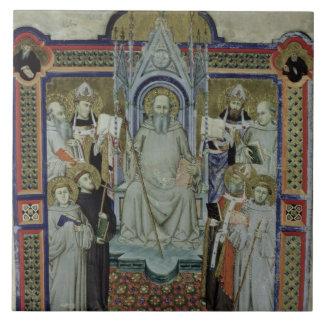 Ms 501 St. Benedict (vellum) Large Square Tile