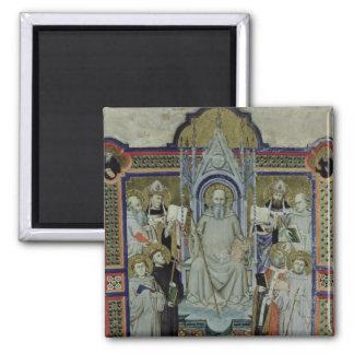 Ms 501 St. Benedict (vellum) Square Magnet