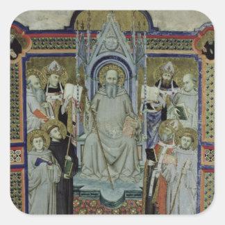 Ms 501 St. Benedict (vellum) Square Stickers