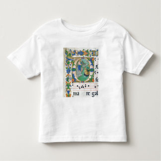 Ms 515 f.1r The Miraculous Draught of Fishes, from Toddler T-Shirt