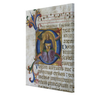 Ms 531 f.169v Historiated initial 'D' depicting Ki Canvas Print