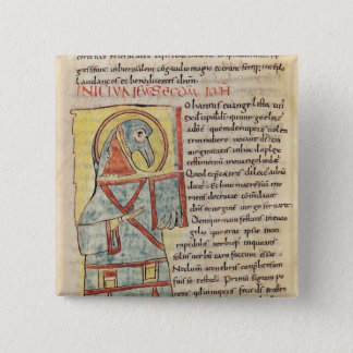 Ms 8 f.95v St. John the Evangelist 15 Cm Square Badge
