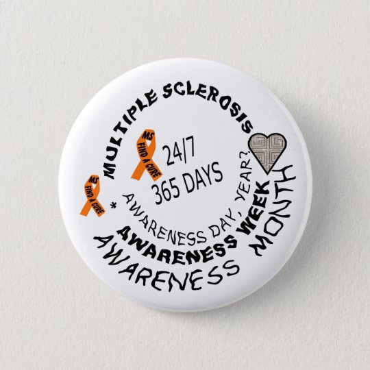 MS AWARENESS BUTTON WITH LOVE