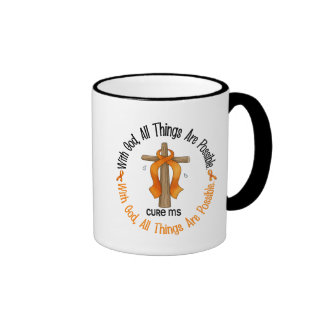 MS Awareness WITH GOD CROSS 1 Coffee Mugs