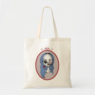 Ms. Blue Belle, Alien Lady Tote Bag!