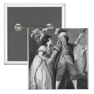 Ms. Brunton and Mr. Holman as Palmira and Pinback Button