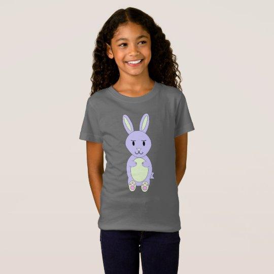 Ms. Bunnykins Grey Girls T-Shirt