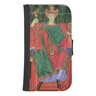 Ms Cim.4453 f.42r Holy Roman Emperor Otto III Enth Samsung S4 Wallet Case