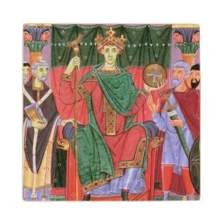 Ms Cim.4453 f.42r Holy Roman Emperor Otto III Enth Wood Coaster
