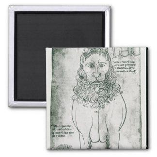 Ms Fr 19093 fol.24v Lion and Porcupine Square Magnet