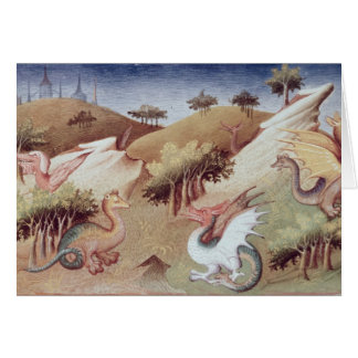 Ms Fr 2810 f.55v Dragons and other beasts Greeting Card