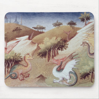 Ms Fr 2810 f.55v Dragons and other beasts Mouse Mat