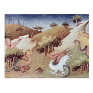 Ms Fr 2810 f.55v Dragons and other beasts Postcard