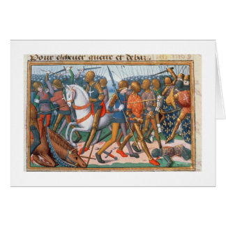 Ms Fr 5054 f.11 The Battle of Agincourt, 1415, fro Greeting Card