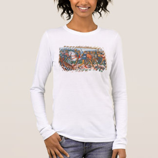 Ms Fr 5054 f.11 The Battle of Agincourt, 1415, fro Long Sleeve T-Shirt