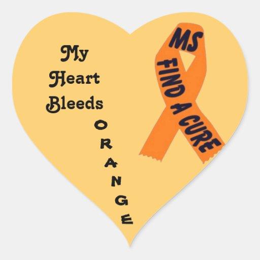 MS HEART STICKER