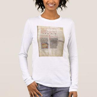 Ms Latin 7272 fol.112 Illuminated calendar page fo Long Sleeve T-Shirt