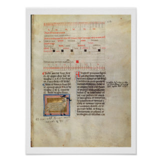 Ms Latin 7272 fol.112 Illuminated calendar page fo Poster