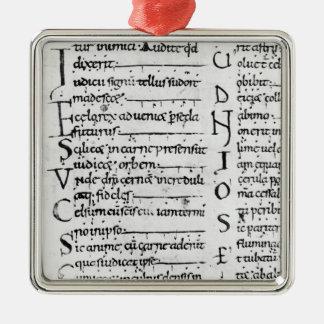 Ms. Latin Lectionary Christmas Ornament
