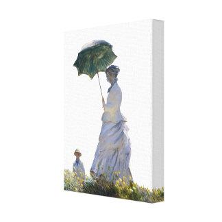 Ms Monet W/Umbrella Canvas Print