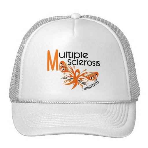 MS Multiple Sclerosis BUTTERFLY 3.1 Mesh Hat