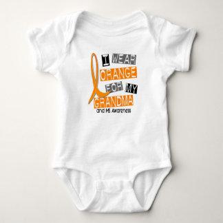 MS Multiple Sclerosis I Wear Orange For My Grandma Baby Bodysuit