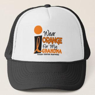 MS Multiple Sclerosis I Wear Orange For My Grandma Trucker Hat