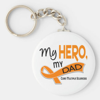 MS Multiple Sclerosis MY HERO MY DAD 42 Keychain