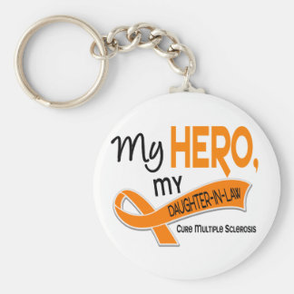 MS Multiple Sclerosis MY HERO MY DAUGHTER-IN-LAW 4 Key Chain