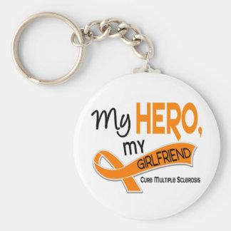 MS Multiple Sclerosis MY HERO MY GIRLFRIEND 42 Key Chains